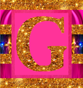 Letter G - Sparkling Image for All Pages - 2015